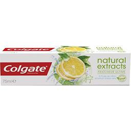 Dentifrice Natural Extracts goût citron-menthe