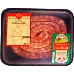 Saucisse fine porc fermier brasse Label Rouge