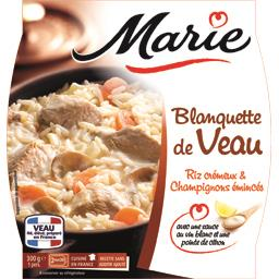 Blanquette de veau riz crémeux & champignons émincés