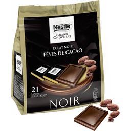 Les Carrés éclat noir aux éclats de fèves de cacao