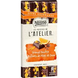 Les Recettes de l'Atelier - Chocolat noir orange confite