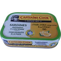 Sardines à l'huile d'olive vierge extra & au citron ...