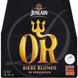 Bière blonde L'Or de dégustation