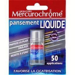 Pansement liquide, favorise la cicatrisation, protège la plaie, soulage et résiste à l'eau