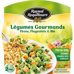 Légumes gourmands fèves, flageolets et blé