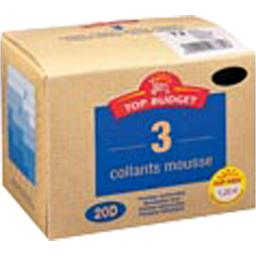 Collants mousse - 20D - noir T3