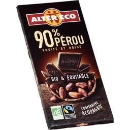Chocolat noir du Pérou 90% cacao BIO