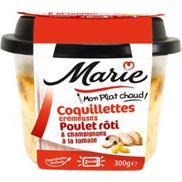 Mon Plat Chaud - Coquillettes poulet rôti champignons tomate