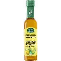 Huile d'olive vierge aromatisée aux 2 citrons & thym...