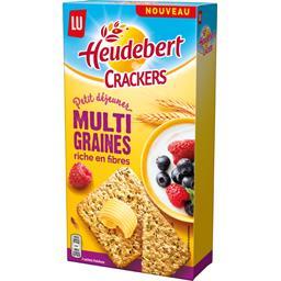 Heudebert Crackers petit déjeuner multi graines la boite de 200 g