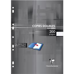 Copies doubles blanches perforées 210x297 seyès