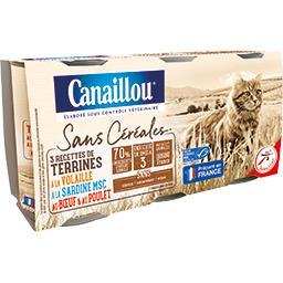 Sans Céréales - Terrines 3 recettes pour chat
