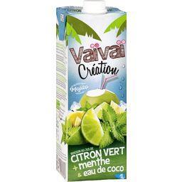 Jus de fruits citron menthe eau de coco Vaïvaï