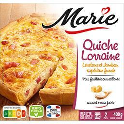 Quiche Lorraine lardons et jambon supérieur fumés