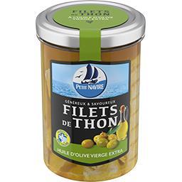 Filets de thon huile d'olive vierge extra