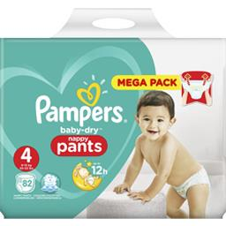 Couches taille 4 : 9-15 kg Baby Dry Pants Pampers