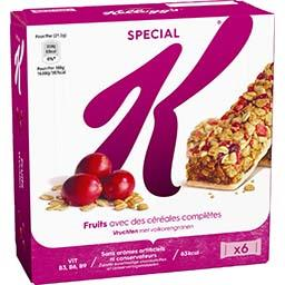 Special K - Barres de céréales fruits rouges