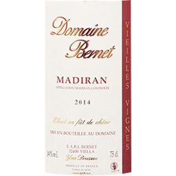 Madiran Domaine de Bernet vin Rouge 2014