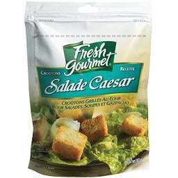 Gourmet Fresh  Croûtons grillés recette salade Caesar