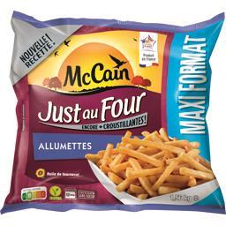 Mc Cain Just au Four - Frites Allumettes le sachet de 1,56 kg