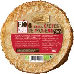 Bio Logik Petites crêpes de froment BIO le paquet de 6 - 240 g
