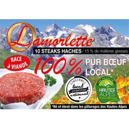 Steaks hachés 100% pur boeuf 15% mg