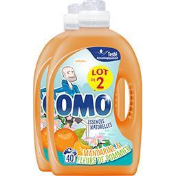 Omo Perles de Parfum - Lessive liquide agrumes et bergam... les 2 bidons de 2 l