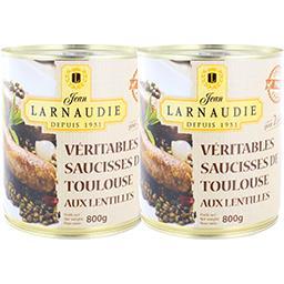 Véritables saucisses de Toulouse aux lentilles