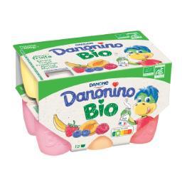 Danonino Bio - Spécialité laitière aux fruits BIO
