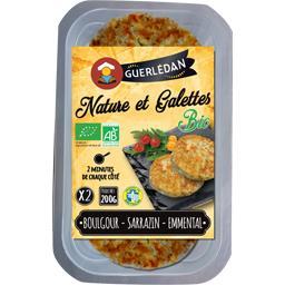 Crêperie de Guerlédan Nature et galettes BIO boulgour Sarrazin emmental la boite de 2 - 200 g