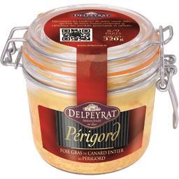Delpeyrat Foie gras de canard entier du Périgord le bocal de 320 g