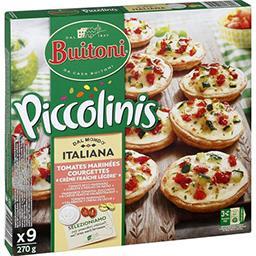 Piccolinis - Mini pizzas Tentazione tomates & courgettes