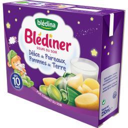 Blédîner - Soupe du soir Délice poireaux/pommes de terre, dès 10 mois