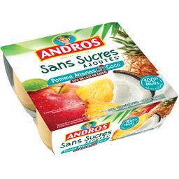 Sans Sucres Ajoutés - Dessert de fruits pomme ananas...