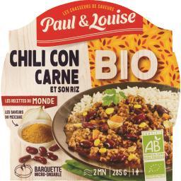 Chili con carne et son riz BIO