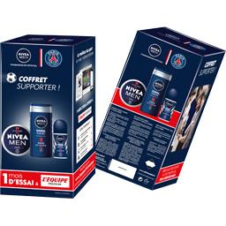 NIVEA MEN Coffret Collector Paris Saint-Germain Cool Kick + 1 Mois d'Essai à L'Equipe Premium