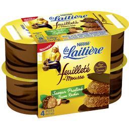 Dessert Feuilleté de Mousse saveur praliné façon roc...