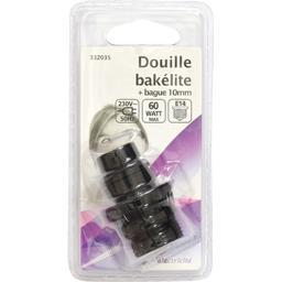 Douille bakélite + bague 10mm 230V/50Hz 60W E14