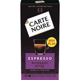 Capsules de café moulu Espresso Puissant n°11