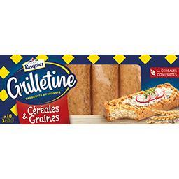 Les Grilletines - Tartines grillées céréales & grain...