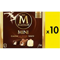 Minis bâtonnets chocolat blanc amande