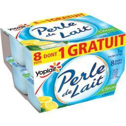 Yoplait Perle de Lait - Spécialité laitière citron les 8 pots de 125 g