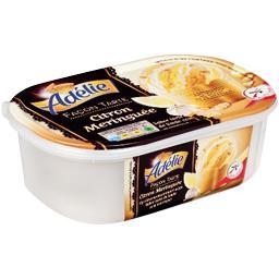 Crème glacée façon tarte citron meringuée