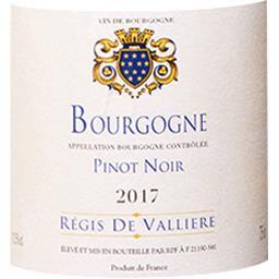 Bourgogne Pinot Noir Régis de Vallière vin Rouge 201...