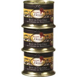 Secret d'éleveurs blocs de foie gras de canard IGP SO 3X120G 1 OFFERT