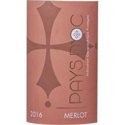 Merlot 'générique' d'Oc, vin rouge, 2016