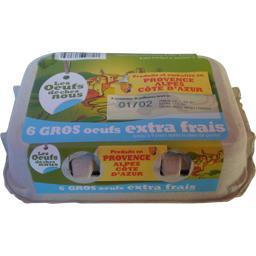 Gros œufs extra frais