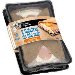 Itinéraire des Saveurs Galettes de blé noir complètes œuf jambon et emmenta... les 2 crêpes de 160 g