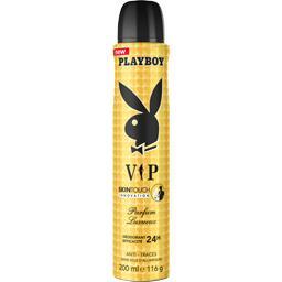 Playboy Déodorant VIP 24h SkinTouch parfum luxueux la bombe de 200 ml
