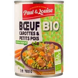 Bœuf carottes & petits pois BIO